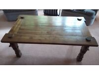 Coffee table ... solid dark wood ... reduced