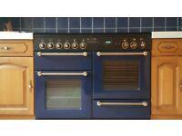Leisure Rangemaster 110 Dual Fuel Freestanding Range Cooker - Blue/Black - Great Condition