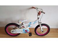 Girls bike. 16 inch wheels. (Suit: 5 yrs to 7 yrs).