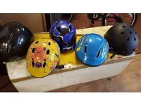 Various Children's Bicycle Helmets in Good Condition