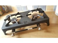Gas burners ideal for camping or food stalls.