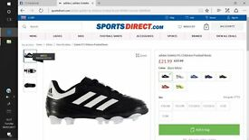 Kids Adidas football trainers and football boots for size 10