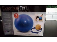 Excercise Ball and foot pump 65cm. Silver colour