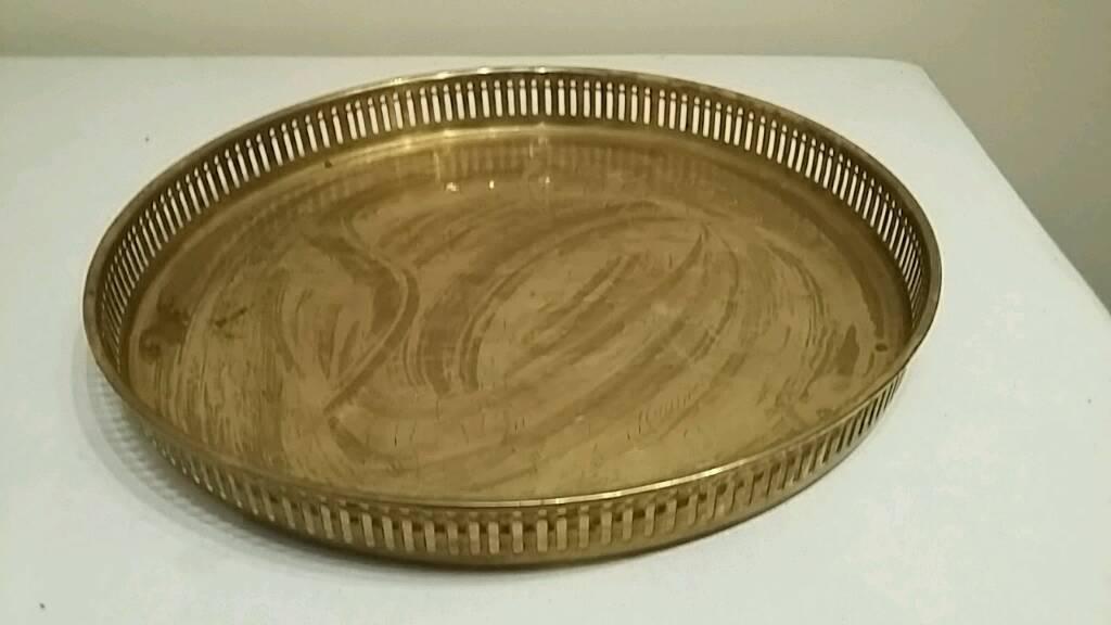 ornamental brass tray or dish