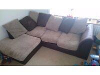 Modern Style Corner Sofa & 2 Seater Sofa