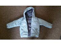100% reversible baby coat