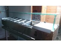 King CRISTAL113.HD 1.5m Refrigerated Countertop Servery Toppings Unit