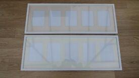 PICTURE FRAMES WHITE X 2, 90cm X 33cm