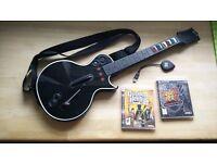PS3 Guitar Hero games + wireless guitar