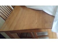 Solid wood dining table only