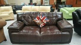 As new real leather sofa can deliver 07808222995