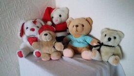 Assortment of 5 Teddy Bears inc a 'forever friends' bear