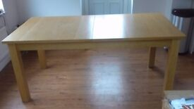 Habitat oak table and 4 chairs