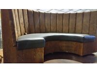Half moon Booth seating units x 3