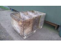 LARGE STORAGE BOX - GARDEN or HORSE HAY BOX - HEAVY DUTY - RECYCLED WOOD - PALLET