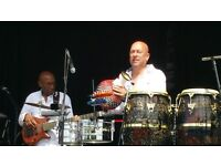 LATIN PERCUSSIONIST AVAILABLE.