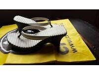 Genuine heeled crocs size 4 (coc sizing 6)