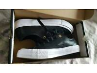 Converse Chuck Taylor All Star II, black leather, boxed, size 5.5
