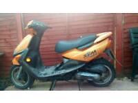 50 cc sym mask moped