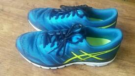 Size 9 Asics Gel Zaraca 4 Mens Running Shoes - Blue
