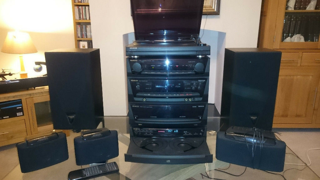 Kenwood Hi-Fi Stereo System, 5.1 Surround Sound, Turntable, Twin Cassette. 5 CD Changer