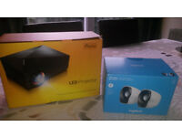 New LED HD Projector and Speakers