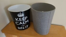 Two paper bins, good condition