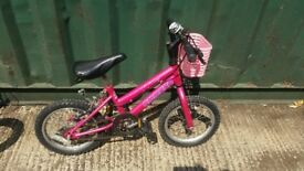 Small girls bike in good condition 10 inch