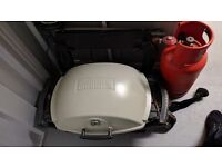 Weber Q2000 with Weber Trolley, Weber Cover, Propane cylinders x 2 (1 full) £150