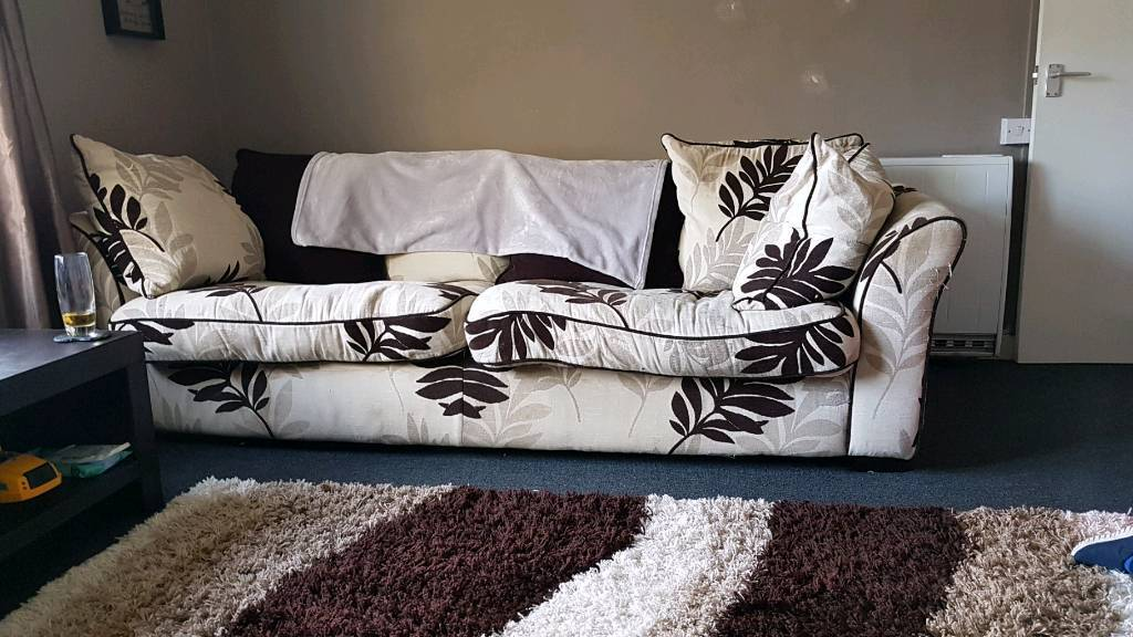 Large duck feather sofa and chair