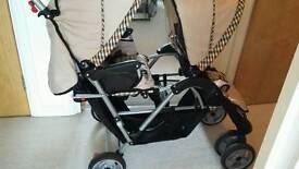 Double buggy pram