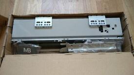 Push to Open Kitchen Drawer Box Sides / Drawer Runner Gray
