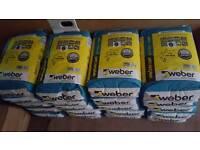 20 x 20kg Weber Set Pro Lite Rapid S2 Grey