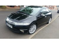honda civic 2.2 cdti black 5 door 06 reg