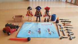 Playmobil 5136 Pirate Gang Crew Playset 100% Complete with Instructions