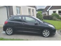 2007 PEUGEOT 207 1.6 DIESEL FULL MOT 30 POUND TO TAX FOR YEAR BELT AND WATER PUMP CHANGED AT 141000