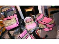 Beautiful pink buggy