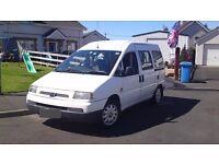 2 Berth Fiat Scudo camping van.