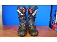 Sidi Vortice SIZE 8 bike boots. Racing biker race motorcycle boots