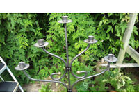 Floor standing wrought iron candlestick - ONO