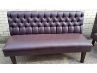 Vinyl Chesterfield like Bench/Pub/Restaurant/Seating For Sale