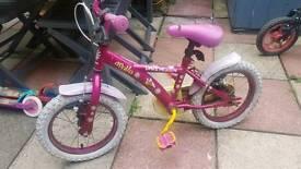 "girl bike..14""wheel.."