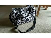 Lovely black and white woodland animal changing bag
