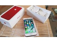 Iphone 7 red 128 gb o2/giffgaff/tesco no offers please
