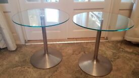 glass top lamp tables