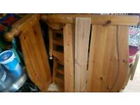 Pine single bed frame solid