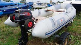 FOR SALE: AVON 310 RIB, 15HB outboard,Trailer, Beach Wheels, Oars, +