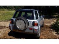 Silver RAV 4, 3 door, 4x4, 2L engine, 84300 miles.