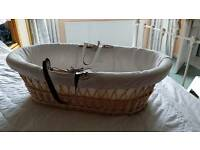 Wicker Moses Basket baby bed