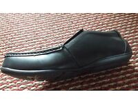 New black leather shoes size 9 on sale